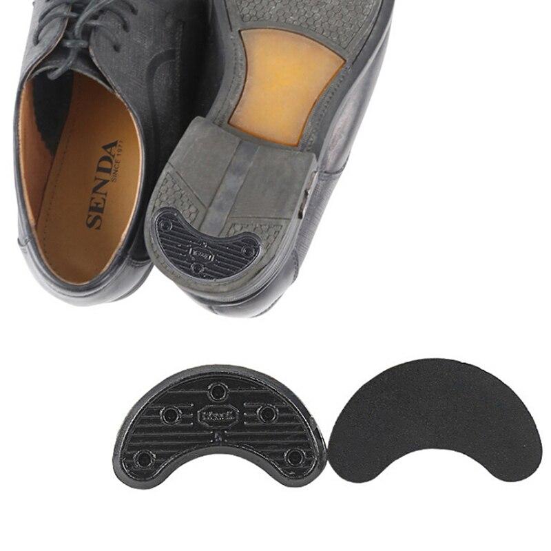 1Pair Black Shoes Heel Sole Sticker Anti-Wear Heel Liner Non Slip Rubber Shoes Heels Guard Stickers Shoe/Foot Care New