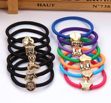 10 Pieces / Lot Fashion Girls' Hair Bands High Quality Rubber Bands Hair Elastics Accessories Women Rubber Band