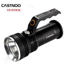 1~10 pcs Castnoo 8000 LM CREE T6 Portable Spotlight 3 Modes Rechargeable 2X18650 Torch Lamp Outdoor LED Flashlight Lanterns(China)