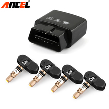 Original ANCEL Smart Car Electronics Wireless TPMS Tire Pressure Monitoring System Built-in Sensor Support WIFI and Bluetooth