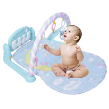 Baby Activity Play Mat Lay Sit Toy With Piano Keyboard Can Ring Baby Gym Educational Fitness Frame Multi-bracket Baby Game Mat(China)