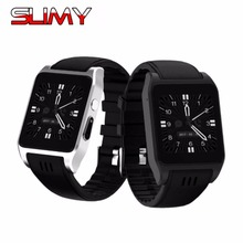 Slimy X86 Android 4.4 Smart Watch Phone with 0.3 MP Camera Wifi 3G 512MB+4GB(China)
