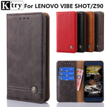 K'try For Lenovo Vibe Shot Z90 Cover Flip PU Leather Cases For Lenovo Z90/ Z90-7 High Quality Book Style Cell Phone Cover K'try(China)