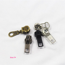 7# Wholesale 10pcs mix Zipper Sliders Metal Zipper Pulls zipper Head For Handbag/ Backpack/Clothing/Sewing Tailor Tools 026