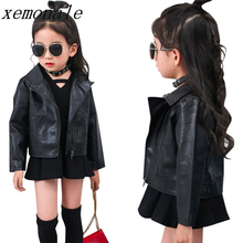 Children Jacket Coat fashion brand Kids Thick Outerwear Baby Girl Leather Clothing Coat Autumn Unlined Upper Zipper Garment