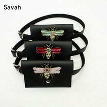 South Korean embroidery dragonfly waist belt lady fashion a vintage key change bag belt waistband(China)