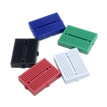 SYB-170 White black blue red green board / test board / color small breadboard / 35X47mm imported materials (5pcs/lot)