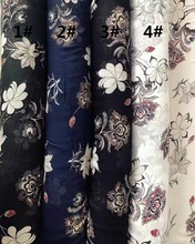 150cm width Chiffon crepe fabric flowers pattern can see through for skirt suit-dress headband CH-7515