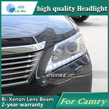 Car Styling Head Lamp case for Toyota Camry 2012 LED Headlights DRL Daytime Running Light Bi-Xenon HID Accessories