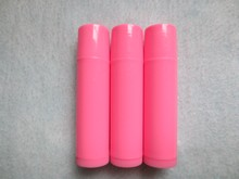 100PCS/LOT-5ML Empty Lipstick Tube,Pink Plastic Cosmetic Container,DIY Lip Gloss Hose,Lip Blam Sub-bottling,Flat Angle Cap(China)