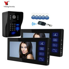 Yobang Security freeship 7 inch Video Door Phone Audio Visual Intercom Entry Access System For House Villa Video intercom door