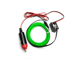 Car EL Wrie Cigarette Lighter Socket Plug Neon Light Car Decor Light Neon LED lamp Flexible EL Wire Rope Tube LED Strip