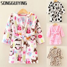 SONGGUIYING A18 Spring Girls Boys Children Dresses Clothing Kids Long Sleeve Pajamas Nightgowns Sleepwear Nightgown Clothes(China)