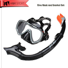 2017 New Anti Fog Underwater Scuba Diving Snorkeling Mask Set Silicone Tube Snorkel Mask Mergulho Swimming Training Diving Mask(China)
