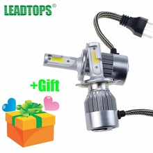 LEADTOPS Car Headlight H4 LED H11 H8/H9/H11 9005 H1 H7 LED Auto Lamps 12V 6000K Cold White 4800LM All In COB Automobiles Bulb DD