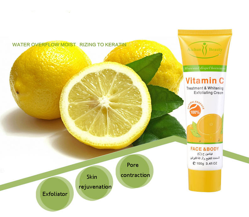 AICHUN 100g Herbal Vitamin C Treatment Whitening Mildly Soften Exfoliating Cream Peeling Gel Face Body Beauty Skin Care 6