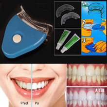 [[[Free Shipping]]] Clareador Dental White Light Teeth Whitening Tools Set Tooth Whitener Care Pack Kit For Oral Hygiene Dente