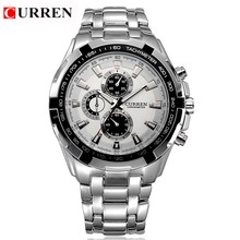 CURREN Quartz men Watches Top Brand Luxury Men Military Wrist Watches Full Steel Men Sports Watch Waterproof Relogio Masculino(China)