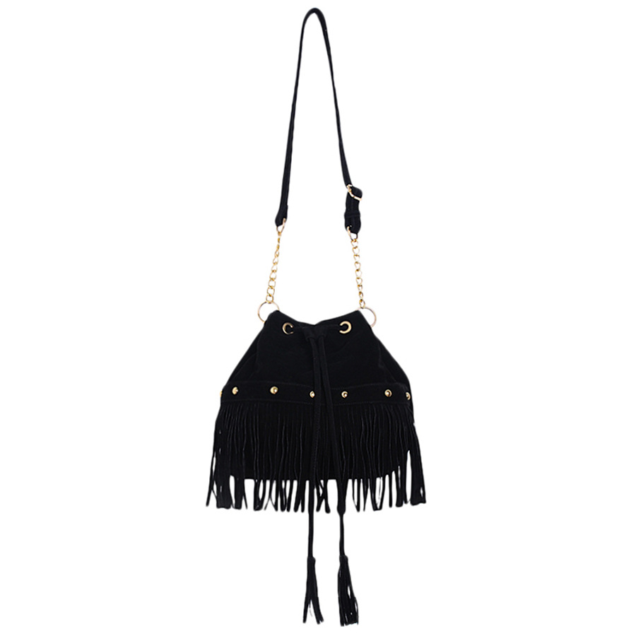 Hot Sale Tassel Bucket Women Bag Leather Handbags Cross Body Shoulder Bags Fashion Messenger Bag Women Handbag Bolsas Femininas<br><br>Aliexpress