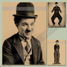 Retro poster vintage paper Theatre Charles Chaplin / nostalgic / Poster / Advertising posters / decorative painting