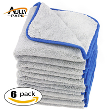 6Pcs 40cmx40cm 800gsm Super Thick Plush Microfiber Car Cleaning Cloths Car Care Microfibre Wax Polishing Detailing Towels(China)