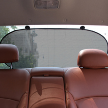 1Pcs Car Sunshade Auto Visor Folding Windshield with car Two Suction Cup Nylon Mesh Car Curtain Back Window Type Car-styling