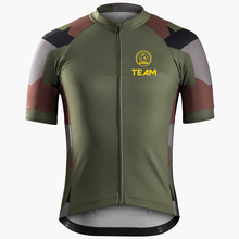 JiaShuo cycle jerseys 2016 Summer Cycling Jersey short sleeve Breathable Camouflage green cycling clothing Bicycle Sportwear