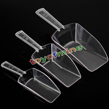 3 pcs Mini Clear Plastic Scoops Sweets Candy Buffet Wedding Party Bar Bridal Favors Accessories 3 Sizes