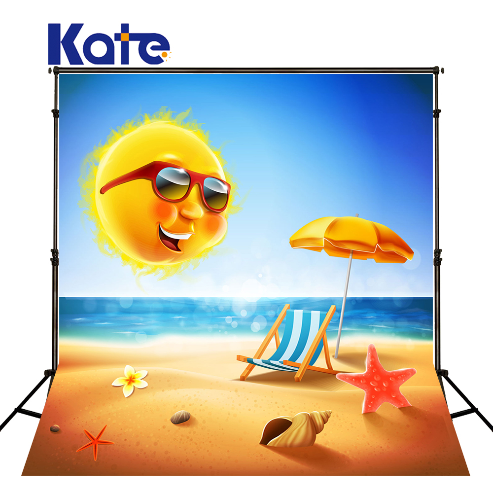 10x10FT Kate Fondali Fotografici Backdrops Cartoon Sea Photography Fondo Playa Photocall Baby <br>