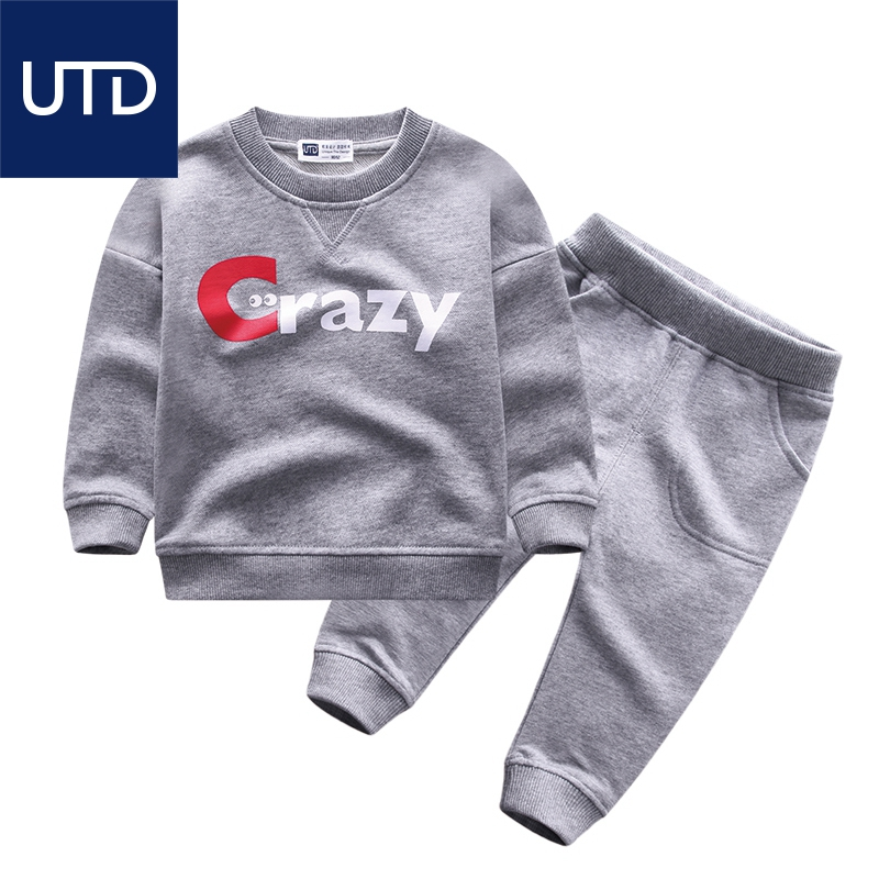 In the spring of 2017 new  suit for boys in boys leisure suit children wear cotton terry two piece<br><br>Aliexpress