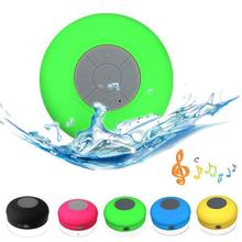 Portable Subwoofer Shower Waterproof Wireless Bluetooth Speaker Car Handsfree Receive Call Music Suction Phone Mic