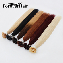 "FOREVER HAIR 0.8g/s 16"" 18"" 20"" Remy U Tip Human Hair Extension 100% Europen Human Keratin Pre Bonded Hair Extension 50s/pac(China)"