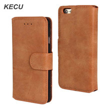 Retro Frosted Flip Wallet Leather Phone Case For iPhone 6s 6 Plus 5 5S SE Cellular phone Bag Shell Cover Coque For iPhone 6 6S