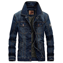 Free Shipping 2017 New Fashion Men's Cotton Denim Jackets AFS JEEP Brand Man Jean Jacket Coat Casual Denim Jacket 128