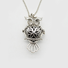 5pcs Antique Silver Bird Lockets Pendant Essential Oil Diffuser Necklace Aromatherapy Jewelry For Women Gift XSH-243(China)