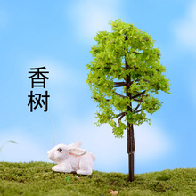 XBJ033 Ornament DIY Sand Table Model 1Pcs Micro landscape Decorative Plastic Flowers Simulation Trees Home Decoration(China)