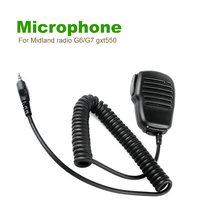 Walkie Talkie Microphone In Hand PTT On The Midland Radio G6/G7 gxt550 gxt650 lxt80