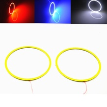 2pcs Angel Eyes COB Auto Halo Rings Headlight DRL 60/70/80/100/120mm 12V Led Car Angel Eyes Motorcycle with Lampshades Bright(China)