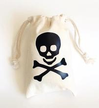 Pirate theme Champagne Party wedding Hangover Kit jewelry favor muslin Bags Bachelorette hen bridal shower favors