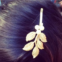 Cindiry Luxury Women Pearl Hair Clip Accessories Gold Leaves Hairpin Classic Greek style Vintage Side Clip Leaves Hairwear P45