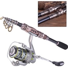 Sougayilang 1.8-2.7M Spinning Telescopic Fishing Rod With 14BB Fishing  Reel Carbon Fiber Travel Spinning Rods Combo Pole Set