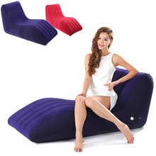 2017 rushed s-shaped inflatable air sofa sex chair adult fetish furniture love making position bed chairs for couples sexo games(China)