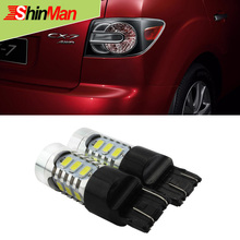 ShinMan High-Power 7443 Dual Circuit 7444 W21 5W CAR LED For MAZDA CX-7 2009-2015 Brake Lights StopTail lamp Rear Parking light(China)