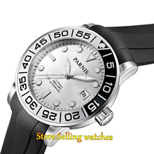 42mm Parnis silver dial Sapphire glass 21 jewel Miyota automatic mens watch(China)