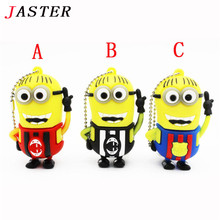 JASTER Minions usb flash drive Barcelona  football jersey pen drive 8gb 16gb 32gb No.10 messi memory stick mini plastic U disk