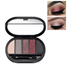 New 5 Colors Glitter Eyeshadow Brush Set for Eyes Brighten Waterproof Make Up Eye Shadow Matte Shimmer Pigment Eyeshadow Palette