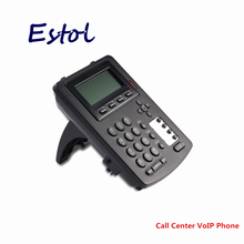 HD voice 3 SIP lines call center VoIP SIP Phone with RJ9 headset Plug,Telephone traffic center system headphone earphone(China)