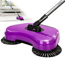 Sweeping Machine Push Magic Broom Lazy 360 Rotary Sweeping Robotic Vacuum Home Floor Cleaner Tool without Electricity