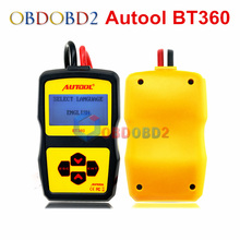 Auto Battery Tester Autool BT360 12V Car Automotive Battery Analyzer Multi-Language Spanish Russian Support EN/CCA,ect