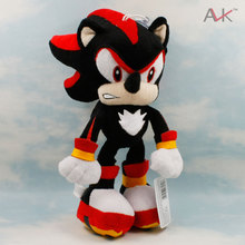 Sonic The Hedgehog Plush Toys Doll 29cm Black Shadow Sonic Soft Stuffed Figure Dolls with Tag for Kids cute Gift(China)